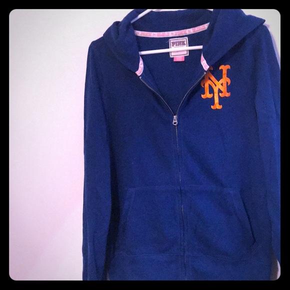 promo code ae994 40ec4 Vs Pink New York Mets zip up hoodie
